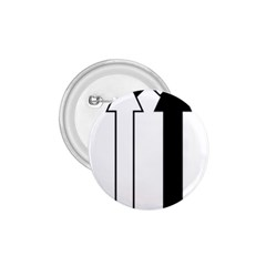 Funny Black and White Stripes Diamonds Arrows 1.75  Buttons