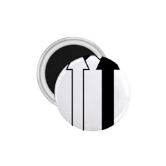 Funny Black and White Stripes Diamonds Arrows 1.75  Magnets