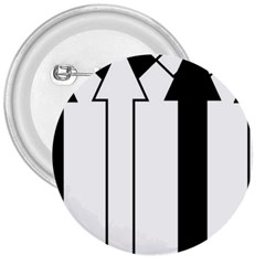 Funny Black and White Stripes Diamonds Arrows 3  Buttons