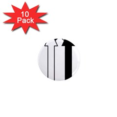 Funny Black and White Stripes Diamonds Arrows 1  Mini Magnet (10 pack)