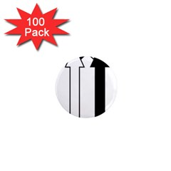 Funny Black and White Stripes Diamonds Arrows 1  Mini Magnets (100 pack)