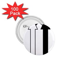 Funny Black and White Stripes Diamonds Arrows 1.75  Buttons (100 pack)