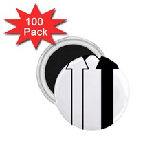 Funny Black and White Stripes Diamonds Arrows 1.75  Magnets (100 pack)