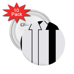 Funny Black and White Stripes Diamonds Arrows 2.25  Buttons (10 pack)