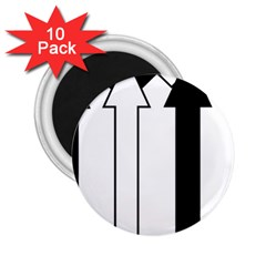 Funny Black and White Stripes Diamonds Arrows 2.25  Magnets (10 pack)