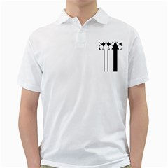 Funny Black and White Stripes Diamonds Arrows Golf Shirts