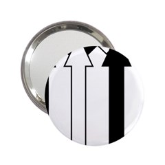 Funny Black and White Stripes Diamonds Arrows 2.25  Handbag Mirrors