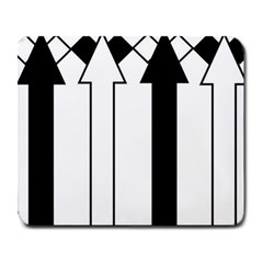 Funny Black and White Stripes Diamonds Arrows Large Mousepads
