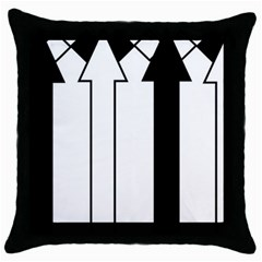 Funny Black and White Stripes Diamonds Arrows Throw Pillow Case (Black)