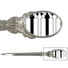 Funny Black and White Stripes Diamonds Arrows Letter Openers