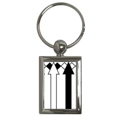 Funny Black and White Stripes Diamonds Arrows Key Chains (Rectangle)