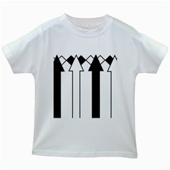 Funny Black and White Stripes Diamonds Arrows Kids White T-Shirts