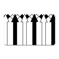 Funny Black and White Stripes Diamonds Arrows Magnet (Rectangular)
