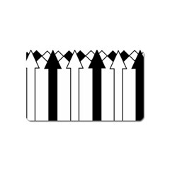 Funny Black and White Stripes Diamonds Arrows Magnet (Name Card)