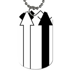 Funny Black and White Stripes Diamonds Arrows Dog Tag (One Side)