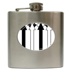 Funny Black and White Stripes Diamonds Arrows Hip Flask (6 oz)