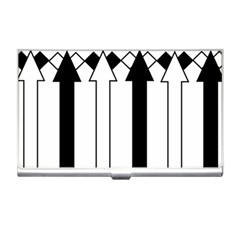 Funny Black and White Stripes Diamonds Arrows Business Card Holders