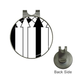 Funny Black and White Stripes Diamonds Arrows Hat Clips with Golf Markers