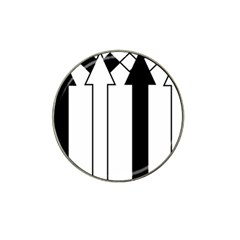 Funny Black and White Stripes Diamonds Arrows Hat Clip Ball Marker (4 pack)
