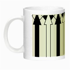 Funny Black and White Stripes Diamonds Arrows Night Luminous Mugs