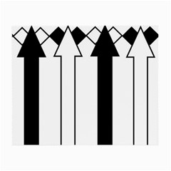 Funny Black and White Stripes Diamonds Arrows Small Glasses Cloth
