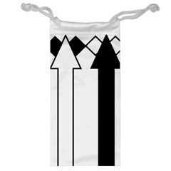 Funny Black and White Stripes Diamonds Arrows Jewelry Bags