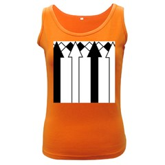 Funny Black and White Stripes Diamonds Arrows Women s Dark Tank Top