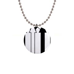 Funny Black and White Stripes Diamonds Arrows Button Necklaces