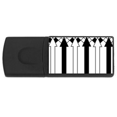 Funny Black and White Stripes Diamonds Arrows USB Flash Drive Rectangular (4 GB)