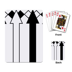 Funny Black and White Stripes Diamonds Arrows Playing Card