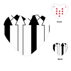 Funny Black and White Stripes Diamonds Arrows Playing Cards (Heart)