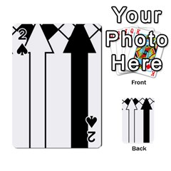 Funny Black And White Stripes Diamonds Arrows Playing Cards 54 Designs  by yoursparklingshop