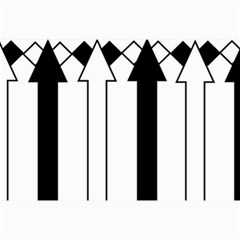 Funny Black and White Stripes Diamonds Arrows Collage 12  x 18
