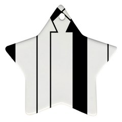 Funny Black and White Stripes Diamonds Arrows Star Ornament (Two Sides)