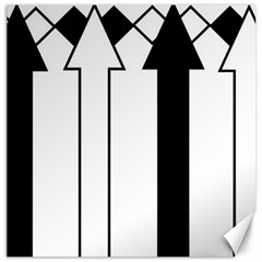 Funny Black and White Stripes Diamonds Arrows Canvas 12  x 12