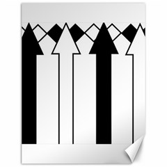 Funny Black and White Stripes Diamonds Arrows Canvas 12  x 16