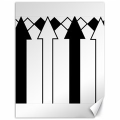 Funny Black and White Stripes Diamonds Arrows Canvas 18  x 24