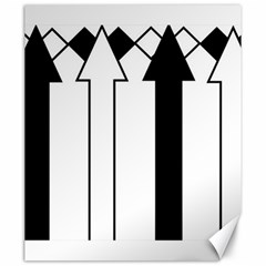 Funny Black and White Stripes Diamonds Arrows Canvas 20  x 24