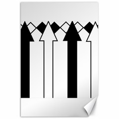 Funny Black and White Stripes Diamonds Arrows Canvas 20  x 30