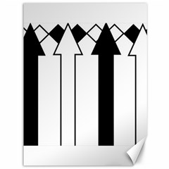 Funny Black and White Stripes Diamonds Arrows Canvas 36  x 48