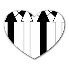 Funny Black and White Stripes Diamonds Arrows Heart Mousepads