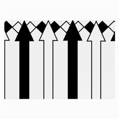 Funny Black and White Stripes Diamonds Arrows Large Glasses Cloth (2-Side)
