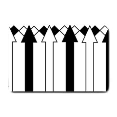 Funny Black and White Stripes Diamonds Arrows Small Doormat