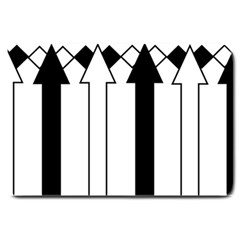 Funny Black and White Stripes Diamonds Arrows Large Doormat