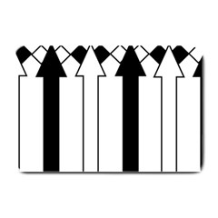 Funny Black and White Stripes Diamonds Arrows Plate Mats