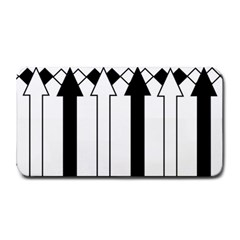 Funny Black and White Stripes Diamonds Arrows Medium Bar Mats