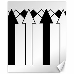 Funny Black and White Stripes Diamonds Arrows Canvas 11  x 14