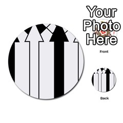 Funny Black and White Stripes Diamonds Arrows Multi-purpose Cards (Round)
