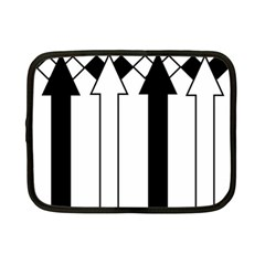 Funny Black and White Stripes Diamonds Arrows Netbook Case (Small)
