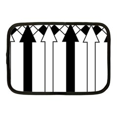 Funny Black and White Stripes Diamonds Arrows Netbook Case (Medium)